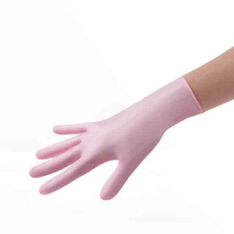 Nitriilihanska vaaleanpunainen