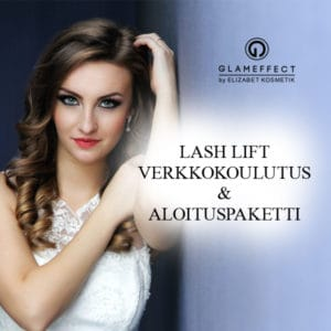 Glam effect lash lift verkkokoulutus_aloituspaketilla