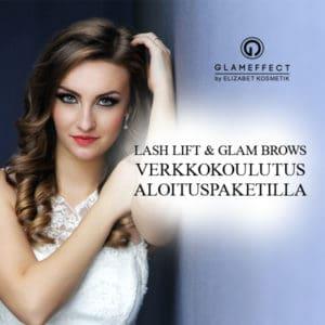 Glameffect lash lif t &glam brows koulutus aloituspaketilla